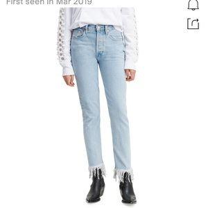 Levi's frida fringe jeans size 25 like new